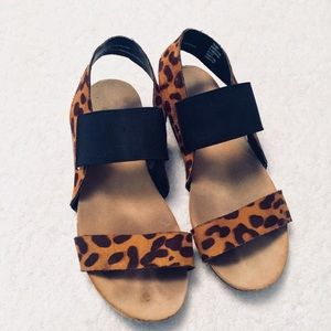 Mossimo Cheetah Leopard Slip On Sandals